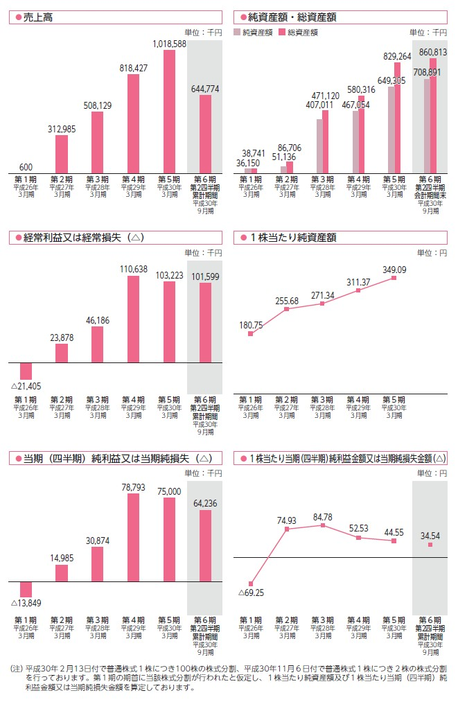 テクノスデータサイエンス・エンジニアリングの経営指標グラフ