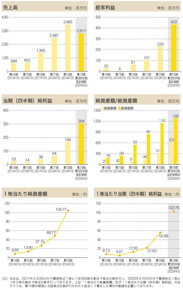 アースインフィニティの経営指標グラフ